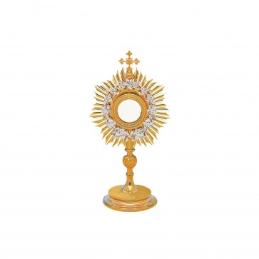 Roman Monstrance with Wheat and Grape Design