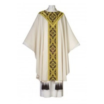 Gothic Verona Vestment with Gold Brocade Banding