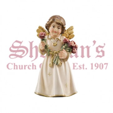 Bell Angel Standing With Roses