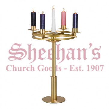Advent Wreath in Satin and Polished Brass Finish