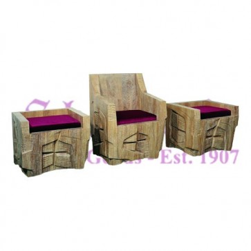 Set Of Chairs For Celebrants - Frosted Finish