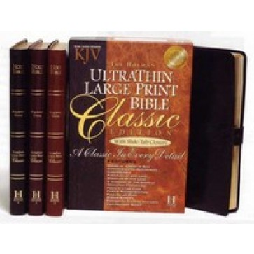 King James Version Ultrathin Large Print with Slide-Tab Closure