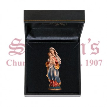 Madonna of Peace Mini Wood Carve with Case