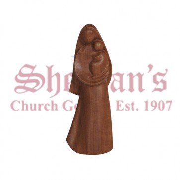 La Madonna Nutwood Wood Carve Statue