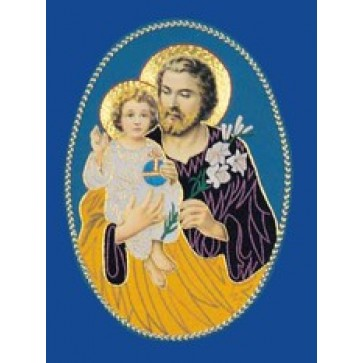 St Joseph Hand Embroidered Gold Metallic Applique