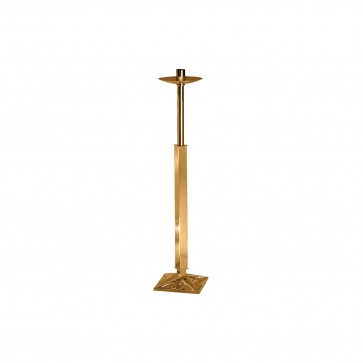 Processional Candlestick with Ornate Base