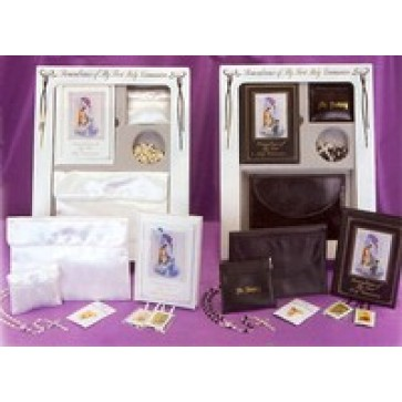 First Communion Prayerbook and Rosary Set