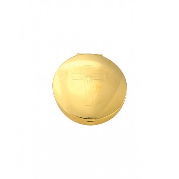 Gold Plated Pyx with Cross