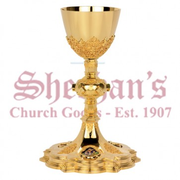 Traditional Gothic Chalice with Paten