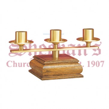 Altar Candelabra - Medium Oak