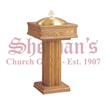 Baptismal Font with Plain Pedestal Base