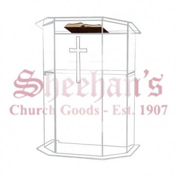 Acrylic Pulpit with Etched Cross
