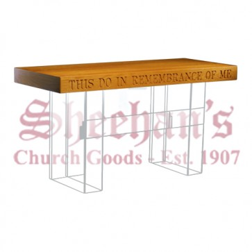 Acrylic Communion Table with Wood Top