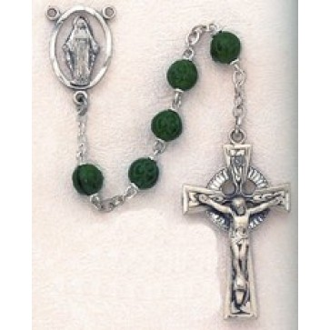 Shamrock Glass Rosary