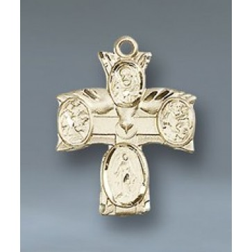 4 Way 14KT Gold Cross