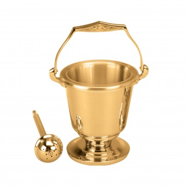 Elegant Holy Water Pot and Sprinkler