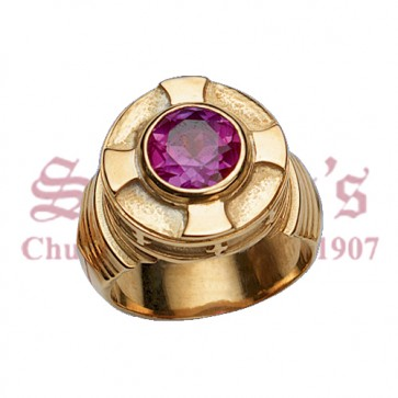 Bishop's Ring With 10mm Amethyst