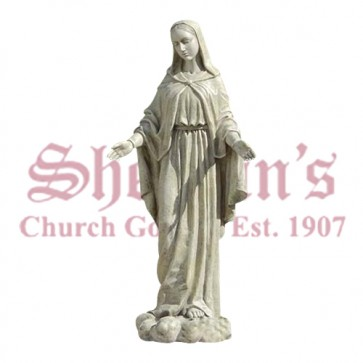 """Our Lady of Grace Garden Statue 24"""" - Out of Stock until 11/16"""