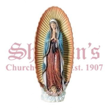 """Our Lady of Guadalupe 32"""" Resin-Stone"""