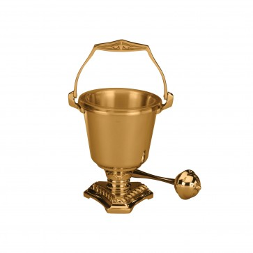 Holy Water Pot and Sprinkler in High Polish Finish