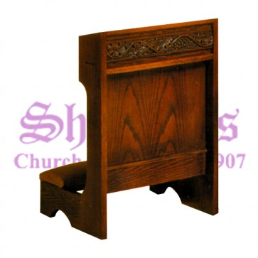 Prie Dieu with Upholstered Kneeler