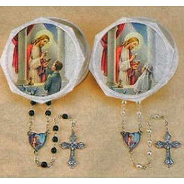 First Communion Rosary with box