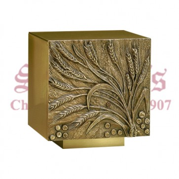 Bronze Tabernacle with Wheat & Grapes Design
