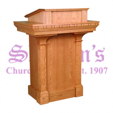 Pulpit with Lines Carved