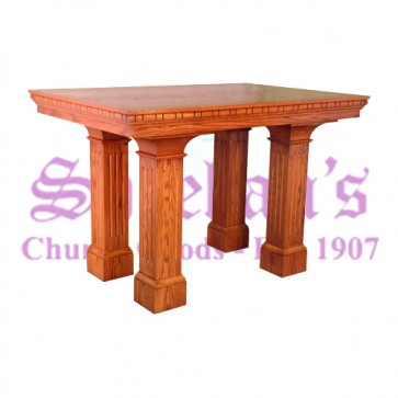 Altar with Square Non-Tapered Raised Panel Column