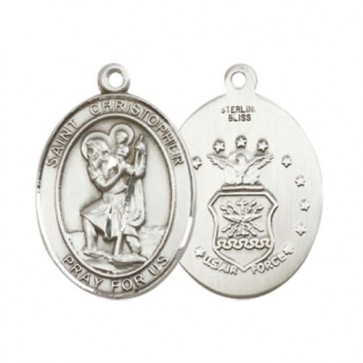 St. Christopher / Air Force Large Pendant