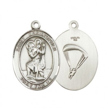 St. Christopher / Paratrooper Large Pendant