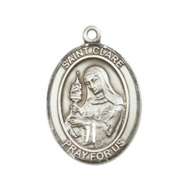 St. Clare of Assisi Large Pendant