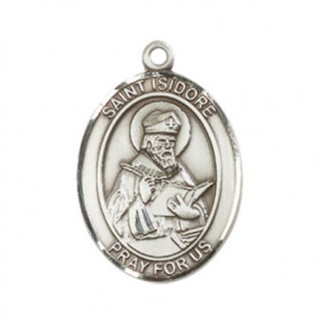 St. Isidore of Seville Large Pendant