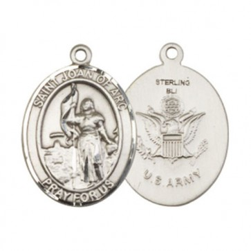 St. Joan of Arc / Army Large Pendant