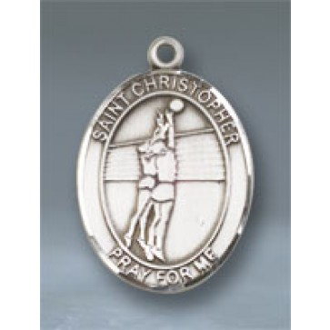 St. Christopher/Volleyball Large Pendant