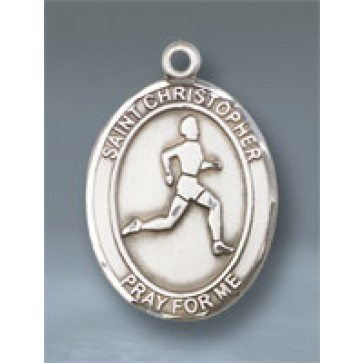 St. Christopher/Track & Field Large Pendant