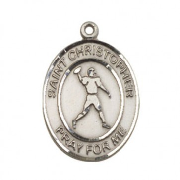St. Christopher/Football Large Pendant