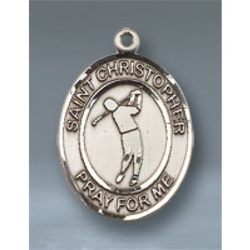 St. Christopher/Golf Large Pendant