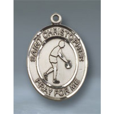 St. Christopher/Basketball Large Pendant