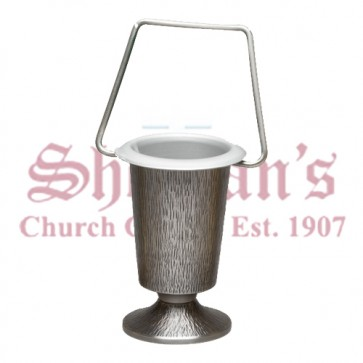 Holy Water Bucket in Silver Oxidized Finish