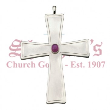 Pectoral Cross with Polished Stone