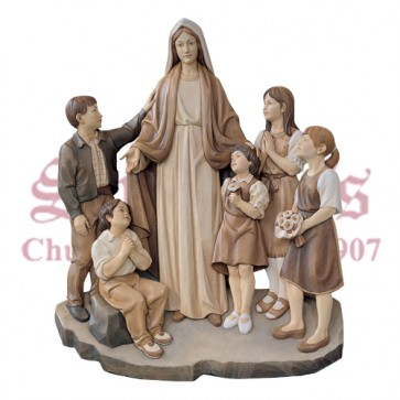 Our Lady With Children - 3/4 Relief