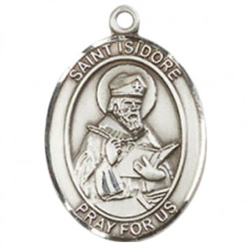 St. Isidore of Seville Medium Pendant