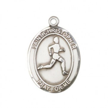 St. Christopher/Track & Field Medium Pendant