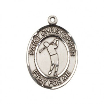 St. Christopher/Golf Medium Pendant