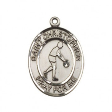 St. Christopher/Basketball Medium Pendant