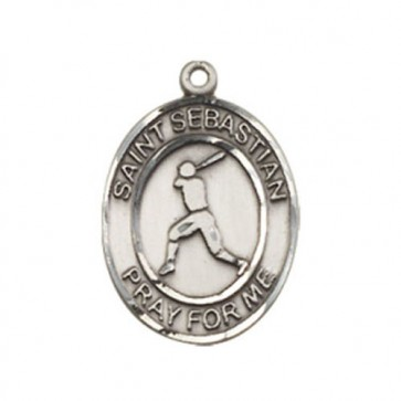 St. Sebastian/Baseball Medium Pendant