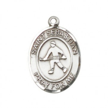 St. Sebastian/Field Hockey Medium Pendant