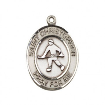 St. Christopher / Field Hockey Medium Pendant