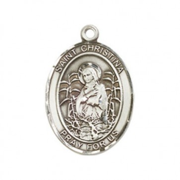 St. Christina the Astonishing Medium Pendant